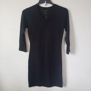 NWOT Black Sweater Dress 3/4 sleeves